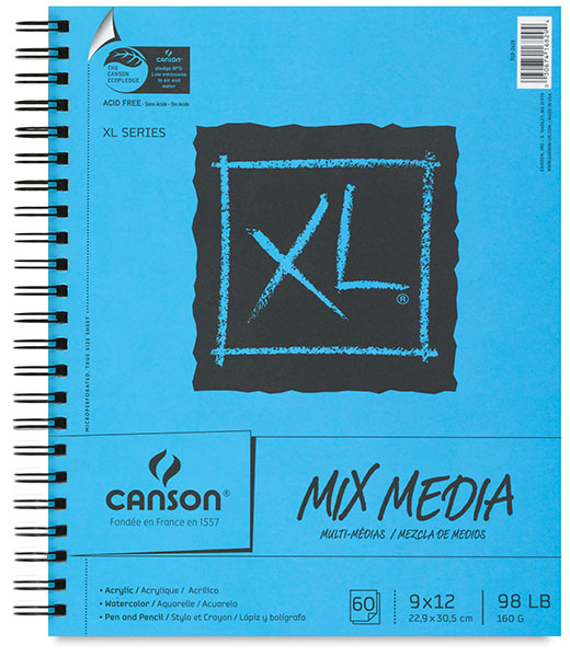 Mix Media Pad, Wirebound Side