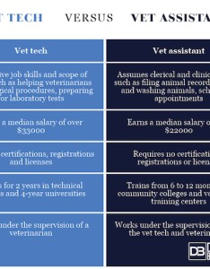 Vet tech vs assistant comparison chart also difference between and rh differencebetween