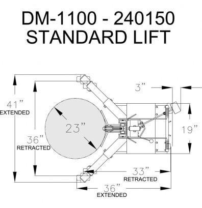 Wesco DM-1100 Manual Hydraulic Ergonomic Drum Lifter