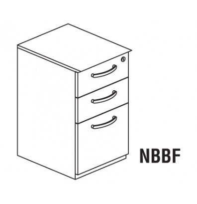 Mayline Napoli 3-Drawer Box/Box/File Pedestal