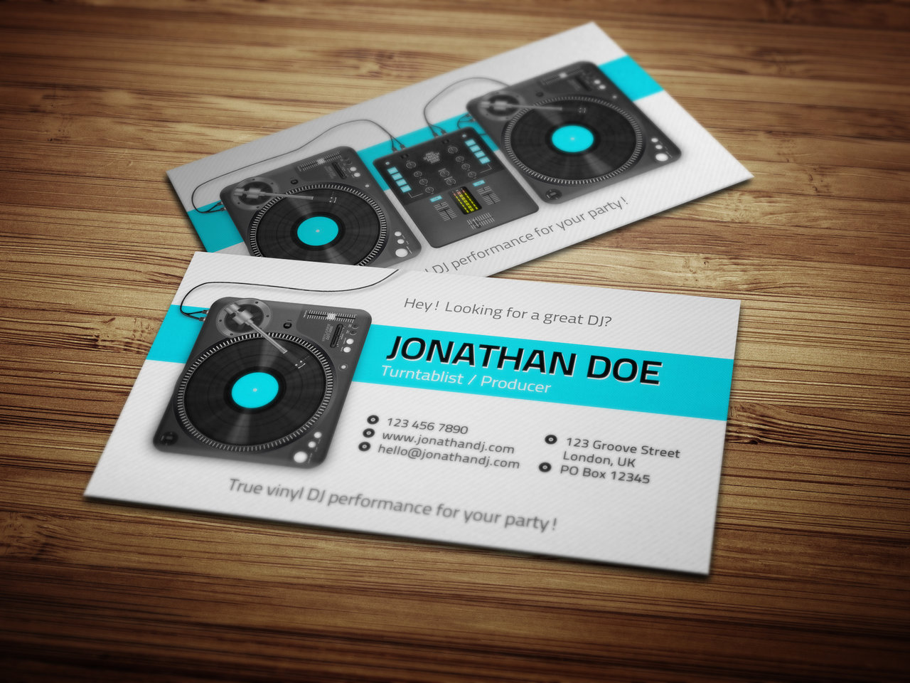 djing business cards
