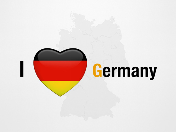 I Love Germany Powerpoint Map Slides I Love Germany Map