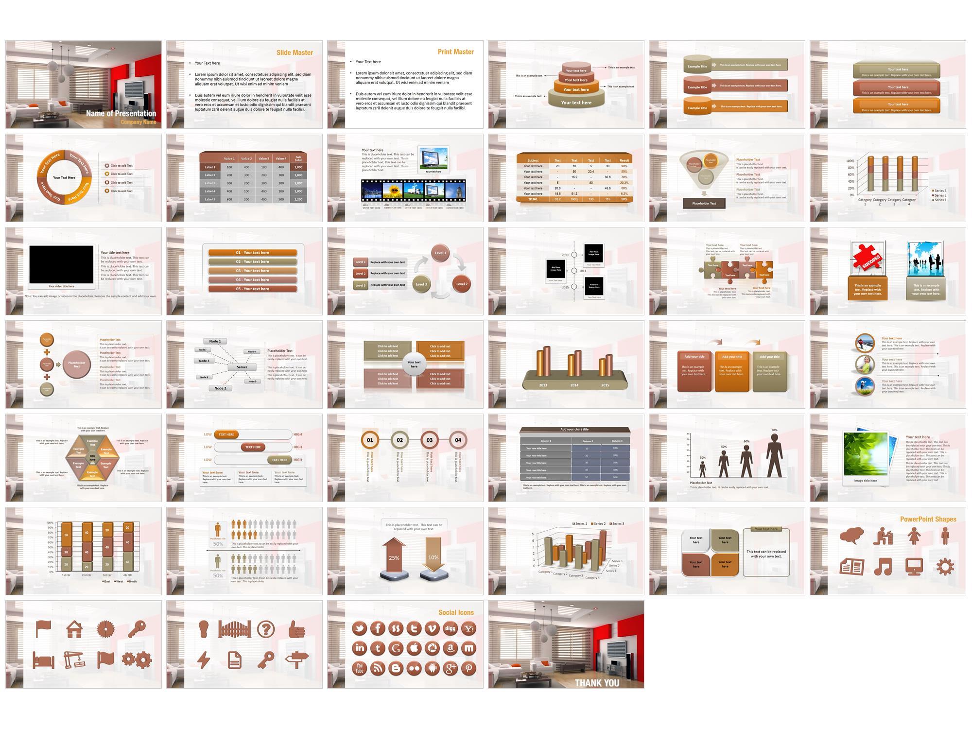 Modern Living Room PowerPoint Templates - Modern Living Room PowerPoint Backgrounds. Templates for PowerPoint. Presentation Templates. PowerPoint ...