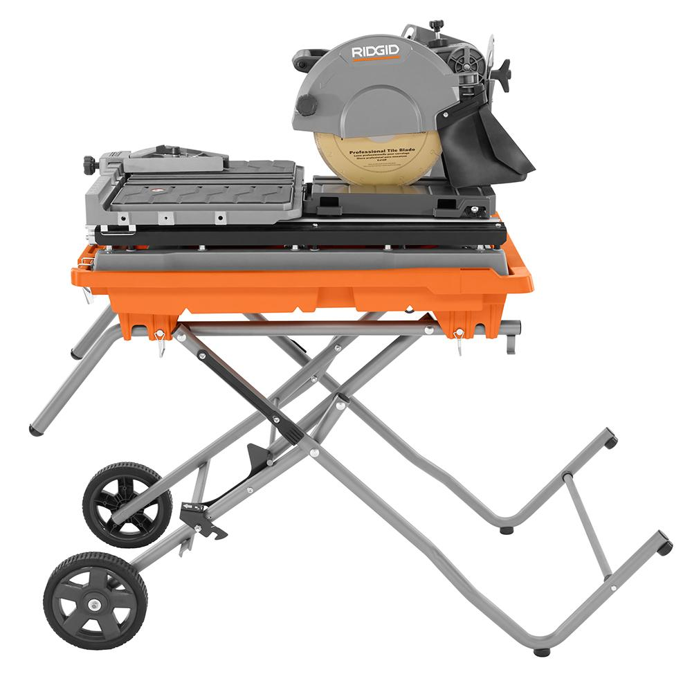 ridgid 10 in wet tile saw with stand