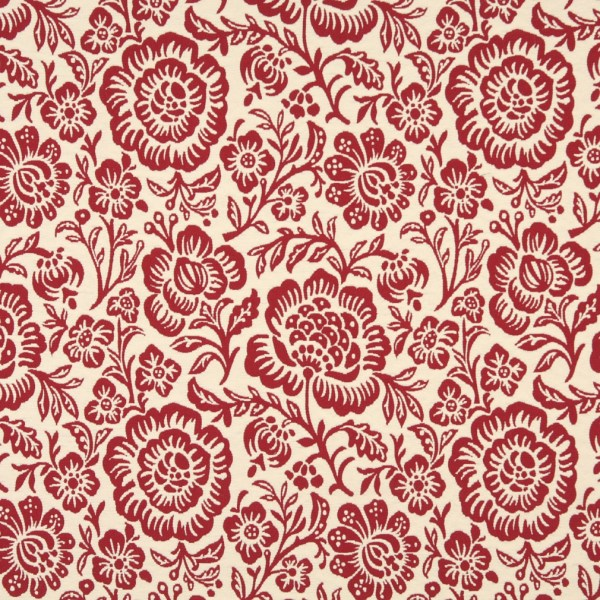 Beige Floral Upholstery Fabric