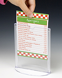 Table Tent Sign Holders  Clear Acrylic Displays for Restaurants