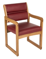 lobby chairs waiting room single futon chair bed ikea mid century modern classic styles wine wooden 21 5 overall width