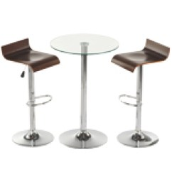 High Top Table Chair Set Weird Looking Chairs Portable Cocktail Tables And Bar Stools Event Fixtures Sets 3 Piece Tempered Glass 2 Bent Wood Adjustable Height