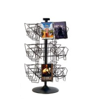 Wire DVD Rack, Countertop Revolving DVD Stand