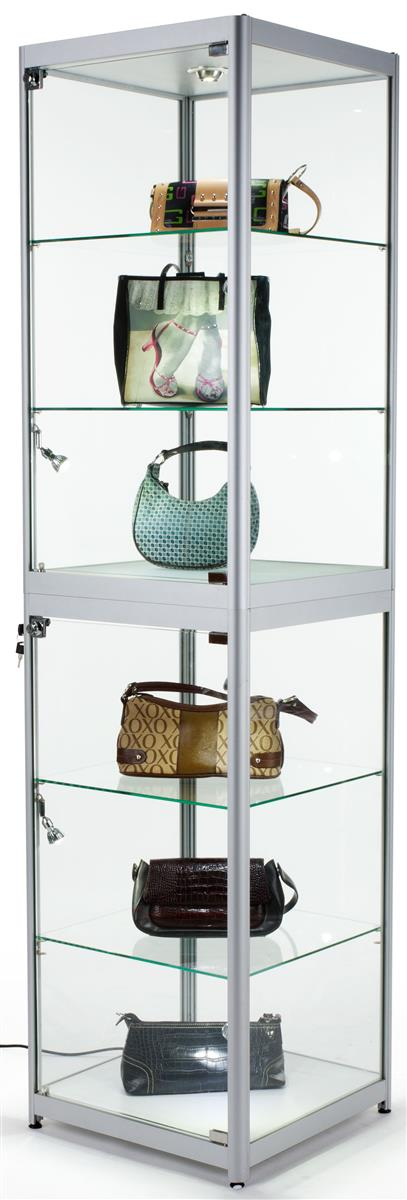 Trade Show Display Case  Mobile Locking Glass Cabinet