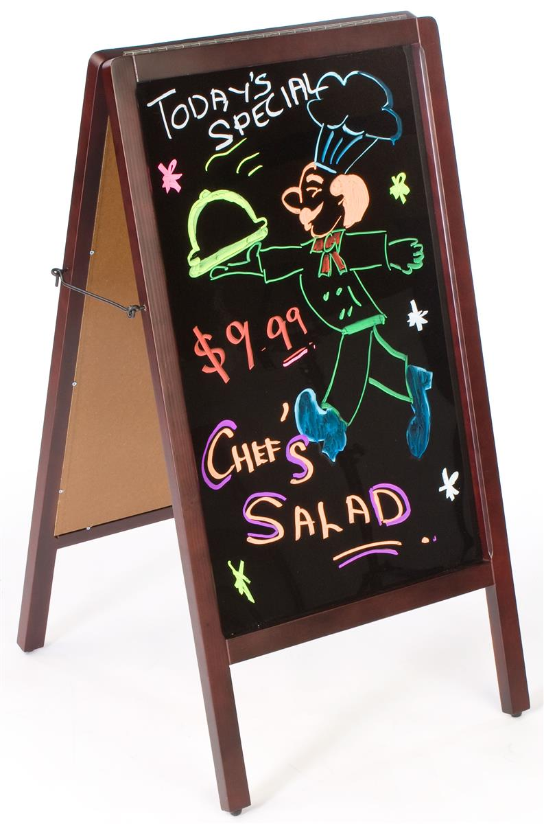 a frame chalkboard with