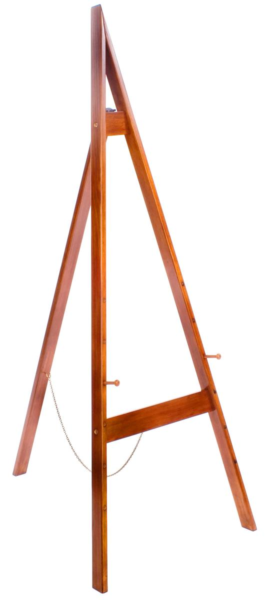 Painter Easel With Honey Wheat Finish With Adjustable Pegs