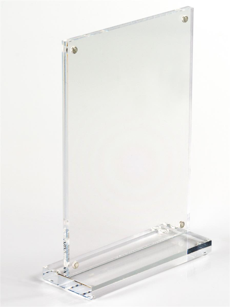 Tabletop Acrylic Photo Frames Display 4 x 6 Pictures  Menus