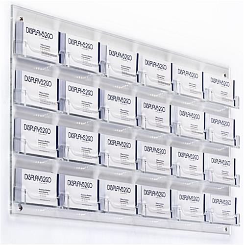 Clear 24Pocket Wall Business Card Holder  Acrylic
