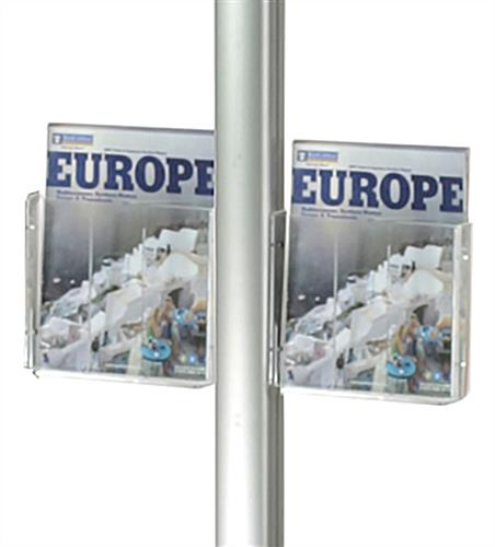Acrylic Pocket 8 5 X 11 Magazine Holder For Display Pole