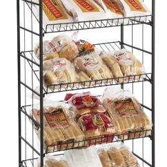 Wire Kitchen Cart Newport Brass Faucets Bakers Rack | 5 Gravity Shelves & Locking Casters