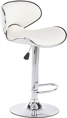 adjustable height chairs broyhill office chair white bar stool can swivel 360 de and is