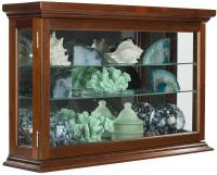 Economy Wall Curio Cabinet | Mirrored Back