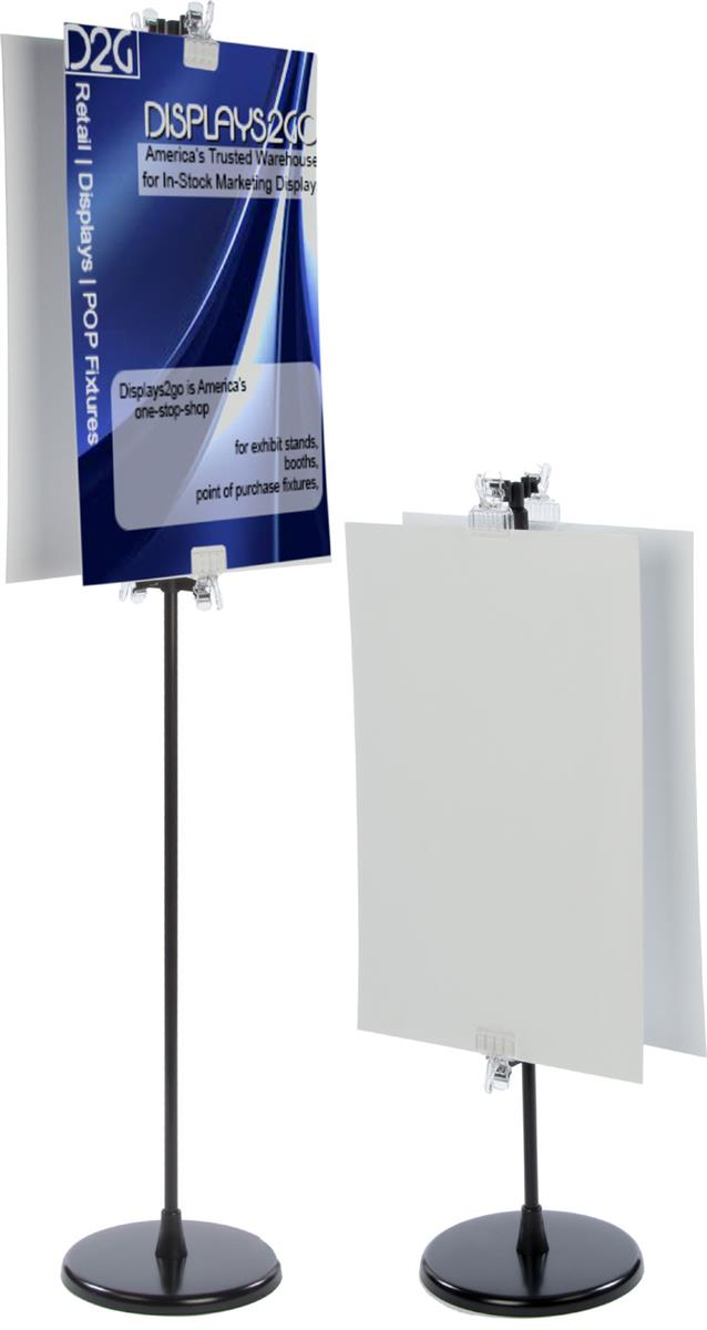 sign stand with 2