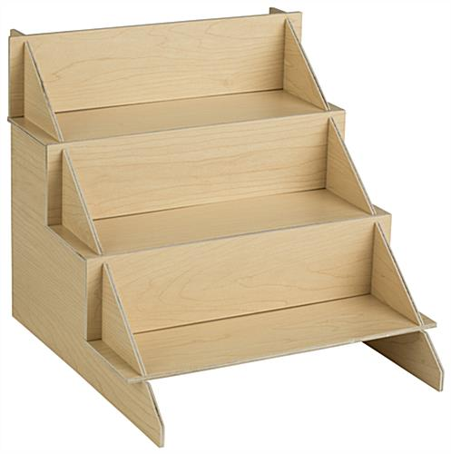 Wood CDDVD Stand 3 Tiered Multimedia Shelves