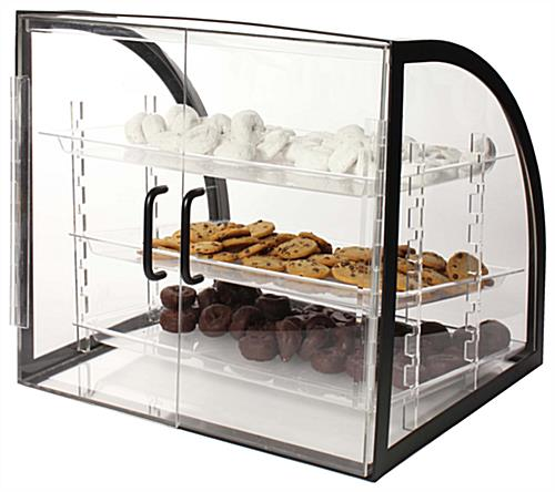Bakery Display Case Curved Acrylic