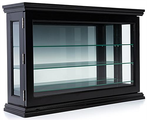 Wall Curio Cabinet  3425w x 22h x 85d Black Display Case