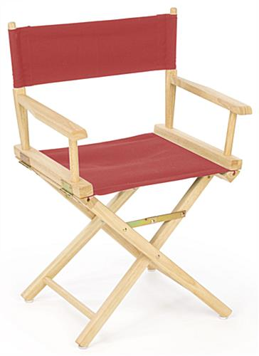 folding chair rubber feet big lots table and chairs wooden director holds up to 220 pounds with red cotton canvas