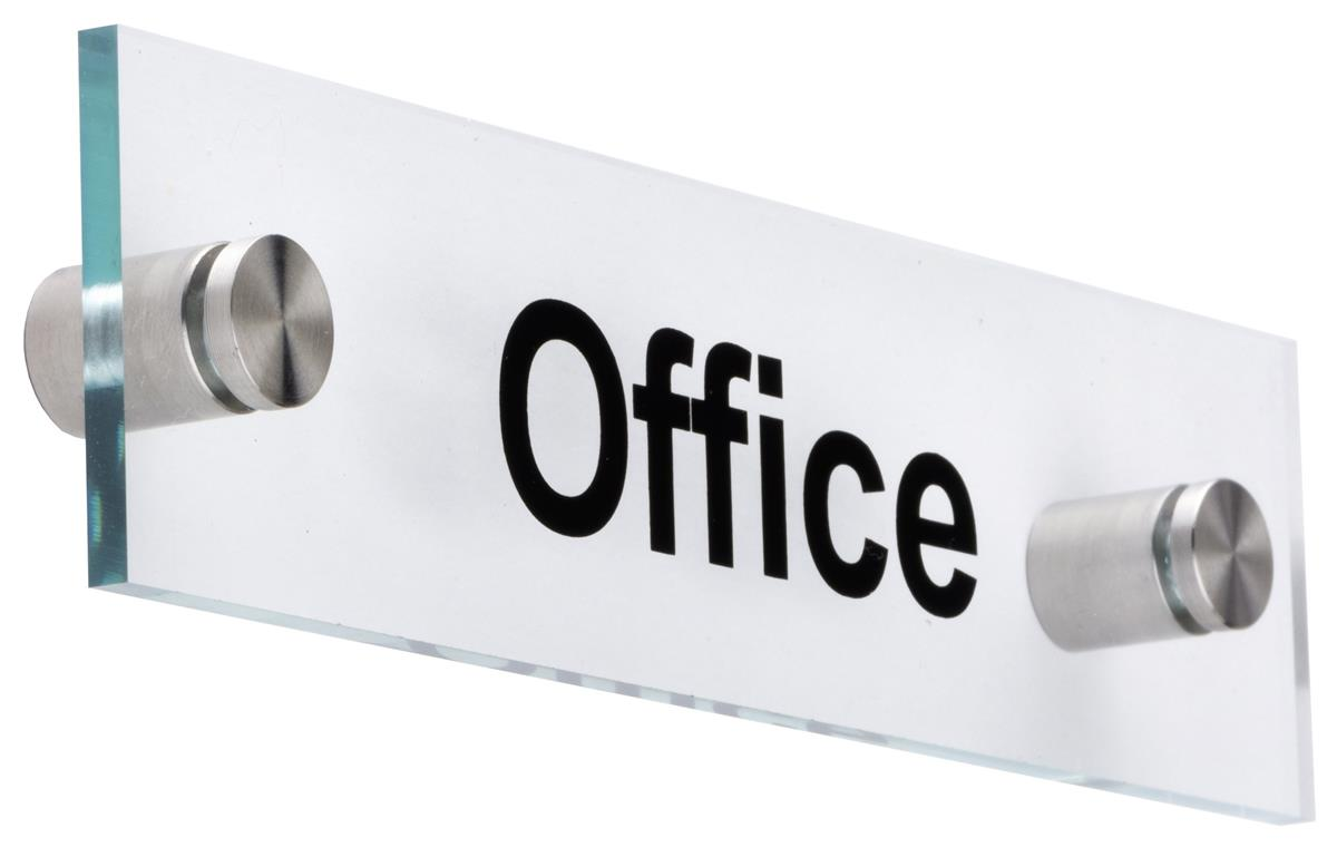 Acrylic Office Door Sign  075 Distance from Wall