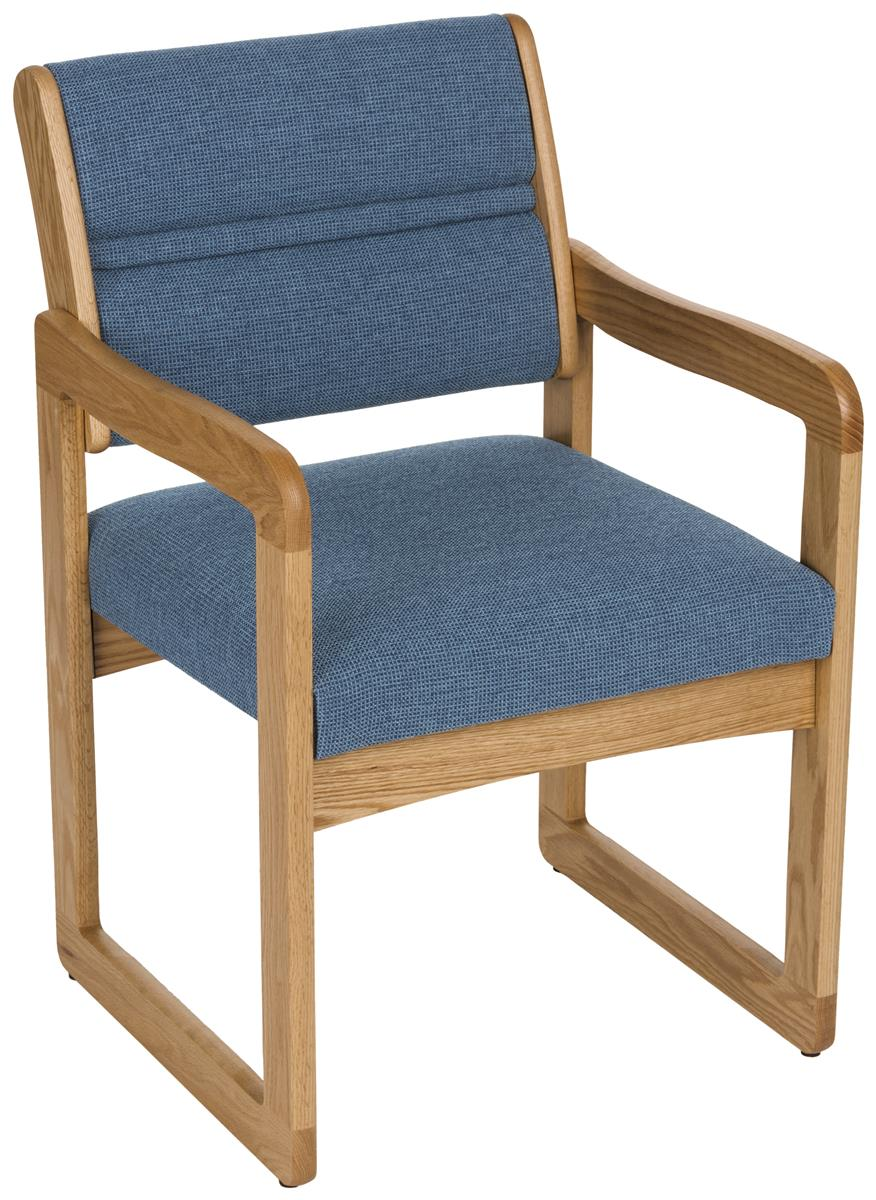 Blue Office Waiting Room Chair  Slide Grip Assembly