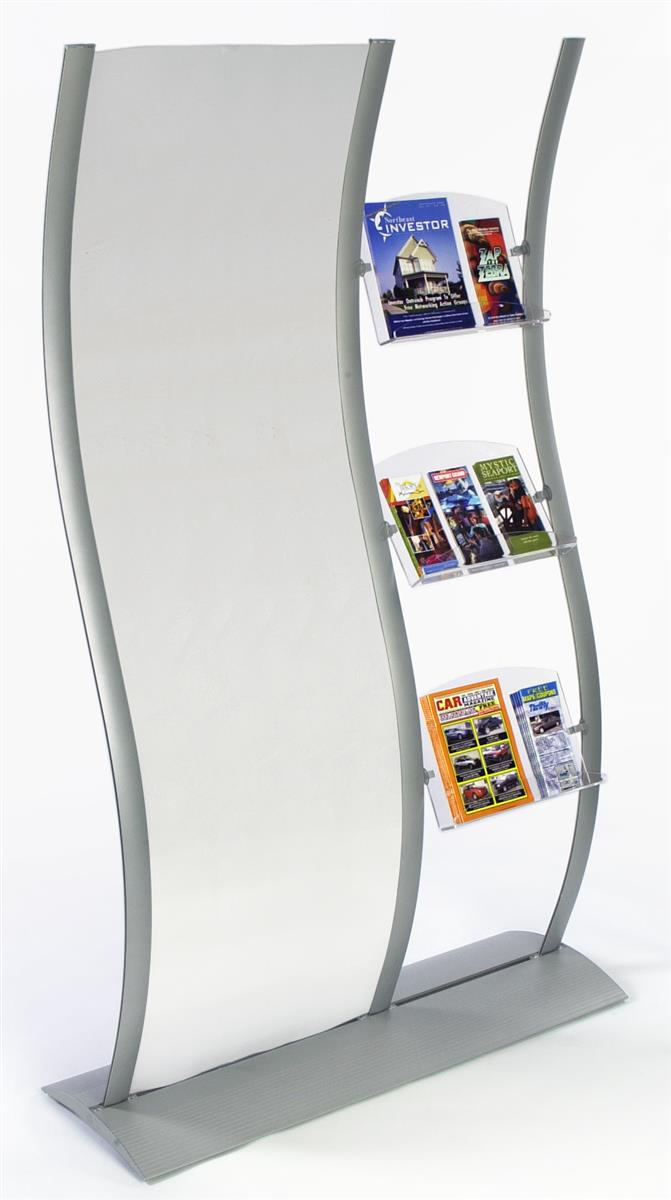 Flyer holders  Wave Sign With Clear Acrylic for Poster