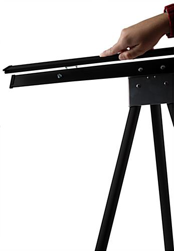 Black Easel Stand with 24 x 36 Snap Frame