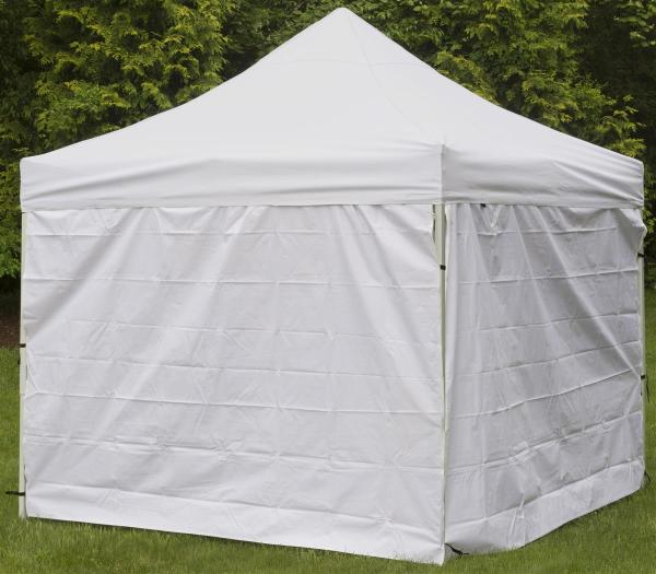 White Portable Canopy 10 Foot Wide Pop Design