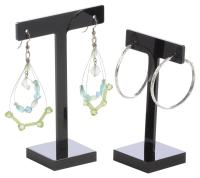 Black Acrylic Earring Holder | Set of 6 Stands