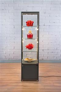 """Tower Display Cabinets   78"""" Tall with Top and Side Lights"""