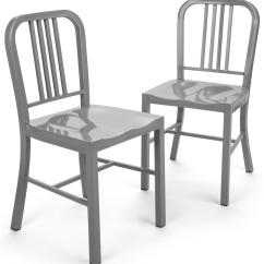 Silver Metal Dining Chairs Fishing Chair With Wheels Side Fully Welded