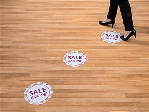 Personalized Floral Floor SALE Stickers  Round Vinyl