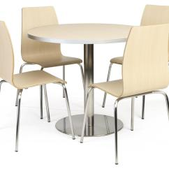 Lunch Room Chairs Party Chair Rental Cafeteria Breakroom Round Dining Table Set 5 Piece
