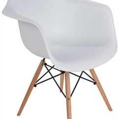 Eiffel Chair Wood Legs Canvas Butterfly Base Plastic Side Natural Finish On Eames Style