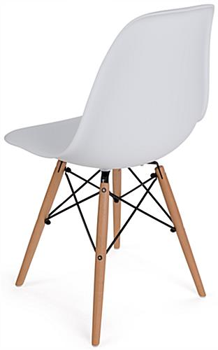high chair wooden legs bedroom sale molded plastic side eiffel base armless with back