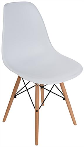 eiffel chair wood legs personalized directors molded plastic side wooden base armless