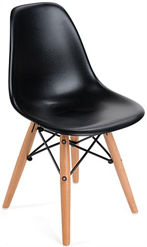 black eames chair office attached table iconic modern kids contemporary style design scooped