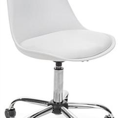 Office Chair Steel Base With Wheels On Workout Modern Molded Wheelie Adjustable Height Iconic Design