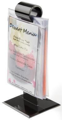 "Restaurant Menu Holders | (10) Vinyl Sleeves Included- 4"" x 6"""