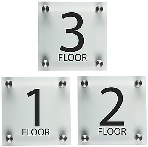 Floor Number Signs  Acrylic With Standoffs