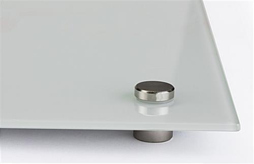 60 x 36 Magnetic Glass Whiteboard  Standoffs Included