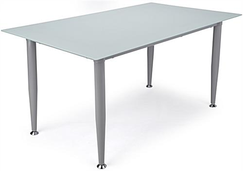 Frosted Glass Whiteboard Desk  Smooth Surface