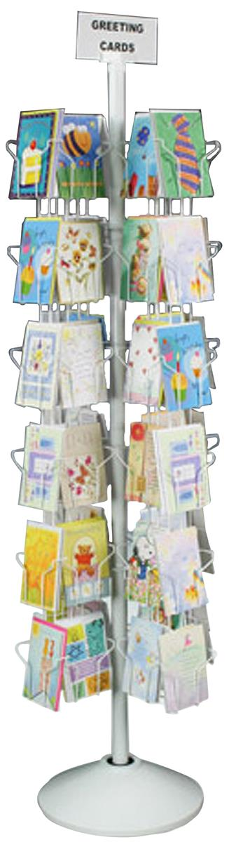 Greeting Card Display 72 Pocket Revolving Wire Display