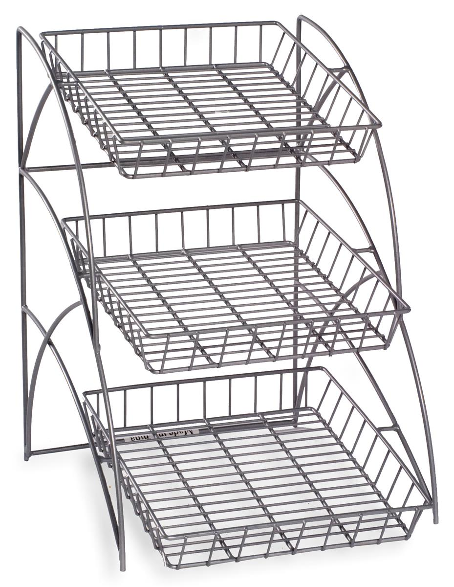 (3) Tray Metal Wire Rack