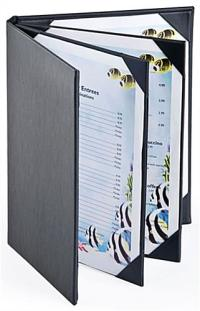 Restaurant Menu Holder (4) Page Cover w/ Synthetic Leather ...