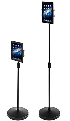 Height Adjustable iPad Stand  Hands Free Tablet Kiosk